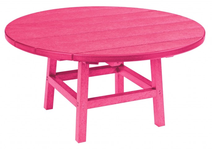 "Generations Fuschia 37"" Round Leg Cocktail Table"
