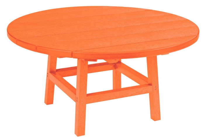 "Generations Orange 37"" Round Leg Cocktail Table"