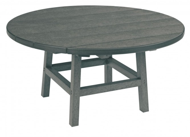 "Generations Slate Grey 37"" Round Leg Cocktail Table"