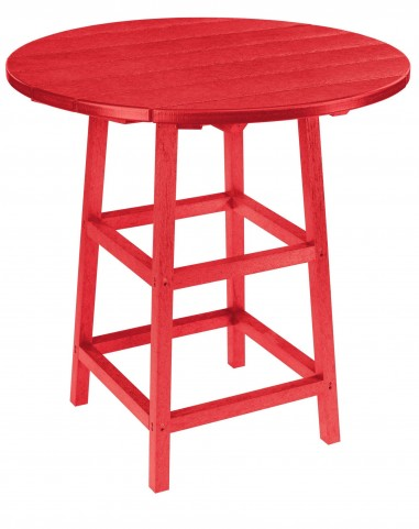 "Generations Red 32"" Round Leg Pub Height Table"