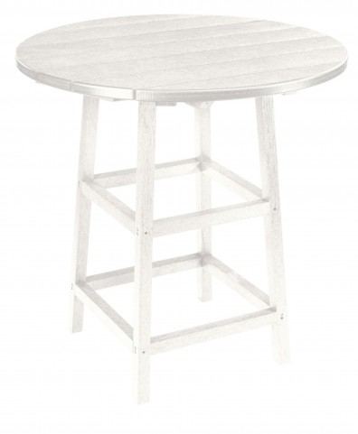 "Generations White 32"" Round Leg Pub Height Table"