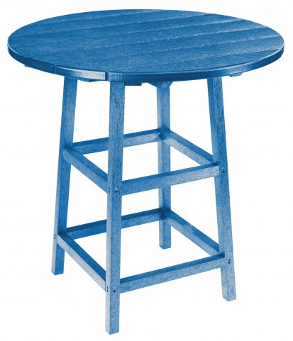 "Generations Blue 32"" Round Leg Pub Height Table"