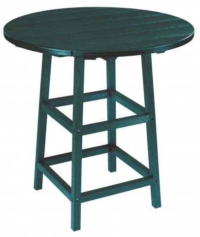 "Generations Green 32"" Round Leg Pub Height Table"