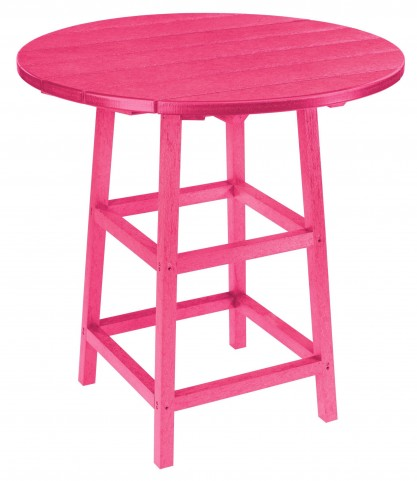 "Generations Fuschia 32"" Round Leg Pub Height Table"
