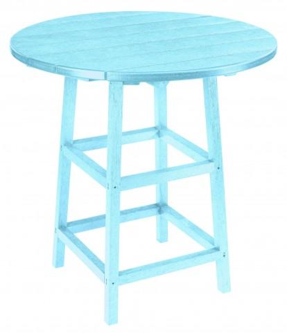 "Generations Aqua 32"" Round Leg Pub Height Table"