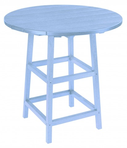 "Generations Sky Blue 32"" Round Leg Pub Height Table"