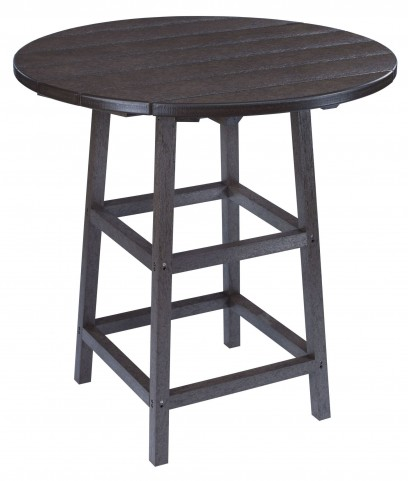 "Generations Black 32"" Round Leg Pub Height Table"