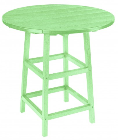 "Generations Lime Green 32"" Round Leg Pub Height Table"