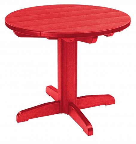 "Generations Red 32"" Round Pedestal Dining Table"