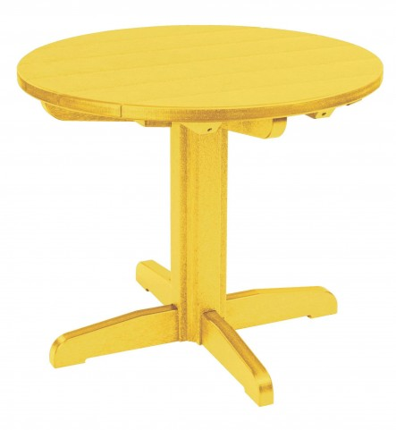 "Generations Yellow 32"" Round Pedestal Dining Table"