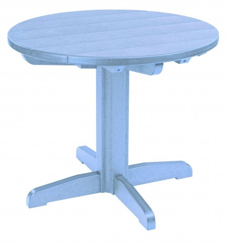 "Generations Sky Blue 32"" Round Pedestal Dining Table"