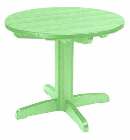 "Generations Lime Green 32"" Round Pedestal Dining Table"