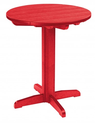 "Generations Red 32"" Round Pub Height Pedestal Table"