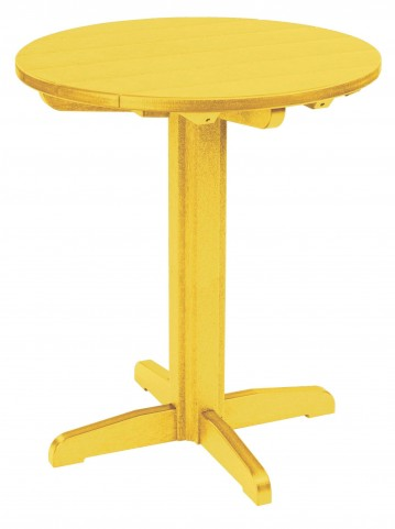 "Generations Yellow 32"" Round Pub Height Pedestal Table"