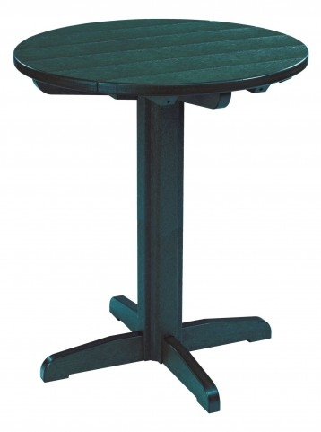 "Generations Green 32"" Round Pub Height Pedestal Table"