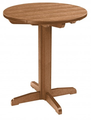 "Generations Cedar 32"" Round Pub Height Pedestal Table"