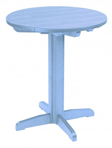 "Generations Sky Blue 32"" Round Pub Height Pedestal Table"