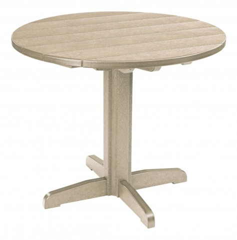 "Generations Beige 37"" Round Pedestal Dining Table"