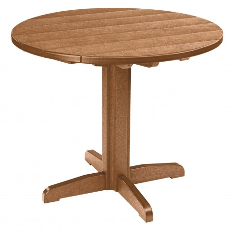 "Generations Cedar 37"" Round Pedestal Dining Table"