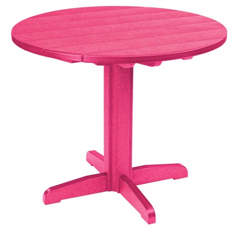 "Generations Fuschia 37"" Round Pedestal Dining Table"