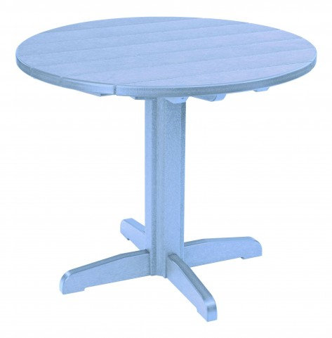 "Generations Sky Blue 37"" Round Pedestal Dining Table"