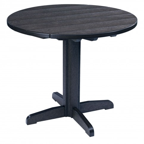 "Generations Black 37"" Round Pedestal Dining Table"