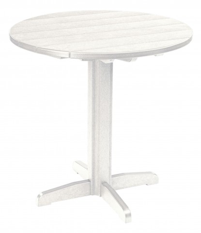 "Generations White 37"" Round Pub Height Pedestal Table"