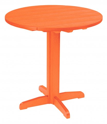 "Generations Orange 37"" Round Pub Height Pedestal Table"