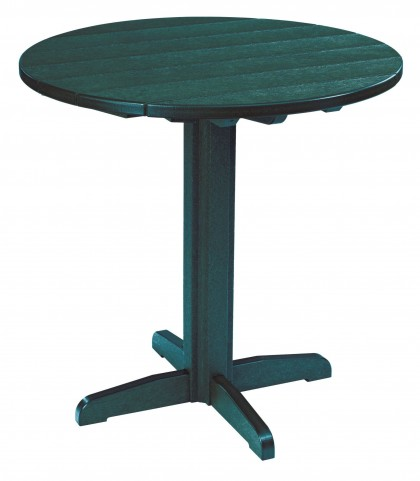 "Generations Green 37"" Round Pub Height Pedestal Table"