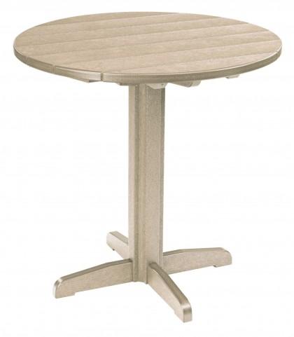 "Generations Beige 37"" Round Pub Height Pedestal Table"
