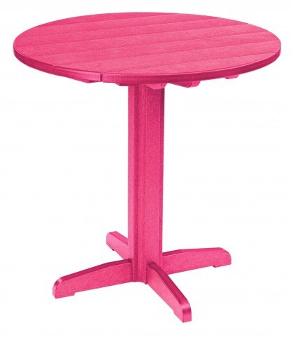 "Generations Fuschia 37"" Round Pub Height Pedestal Table"