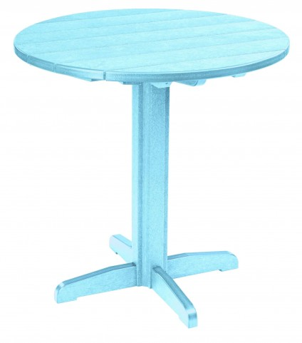 "Generations Aqua 37"" Round Pub Height Pedestal Table"