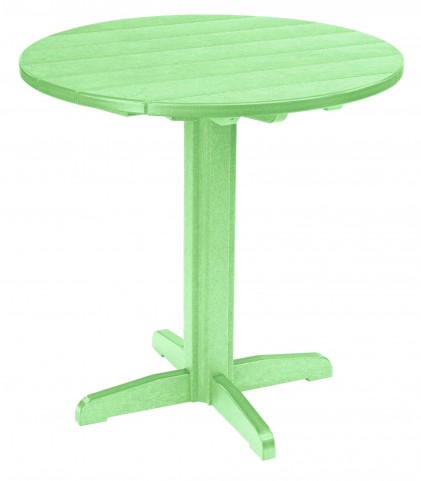 "Generations Lime Green 37"" Round Pub Height Pedestal Table"