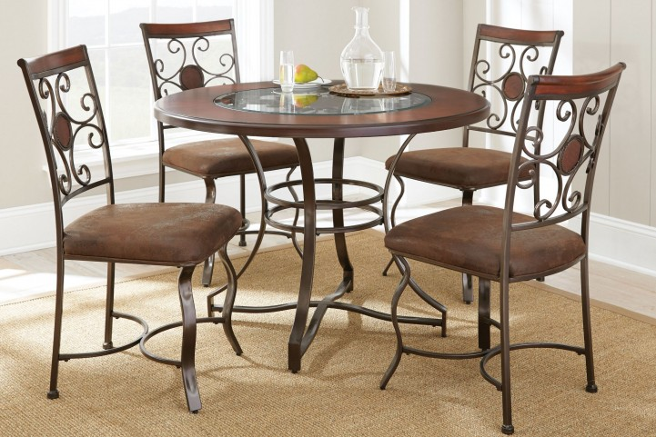 Toledo Gunmetal Round Dining Room Set