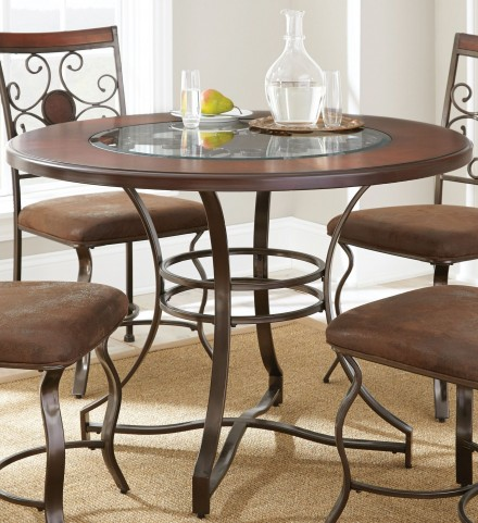 Toledo Gunmetal Round Dining Table