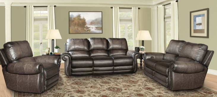 Thurston Shadow Dual Power Reclining Living Room Set