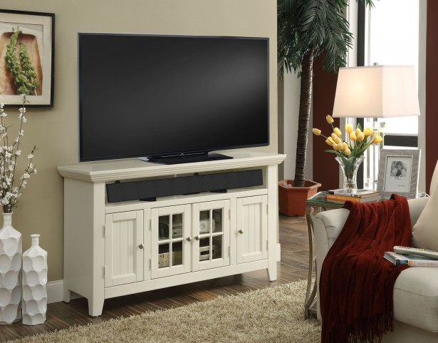 """Tidewater Vintage White 50"""" TV Console"""