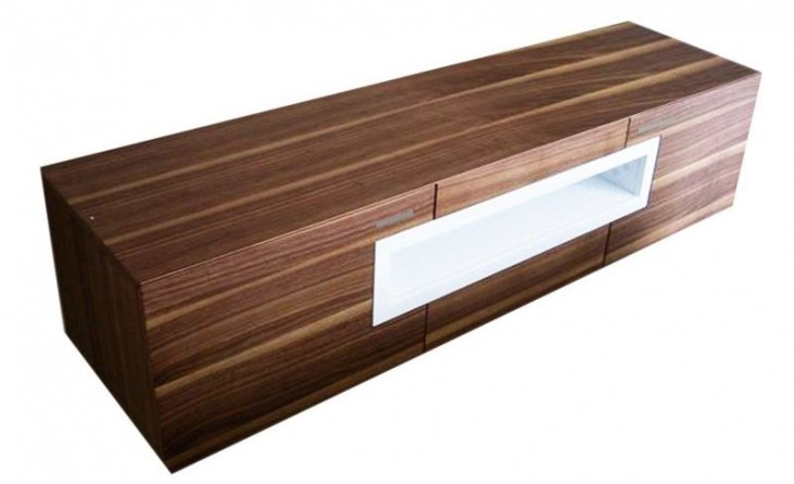 Tizio Light Walnut TV Stand