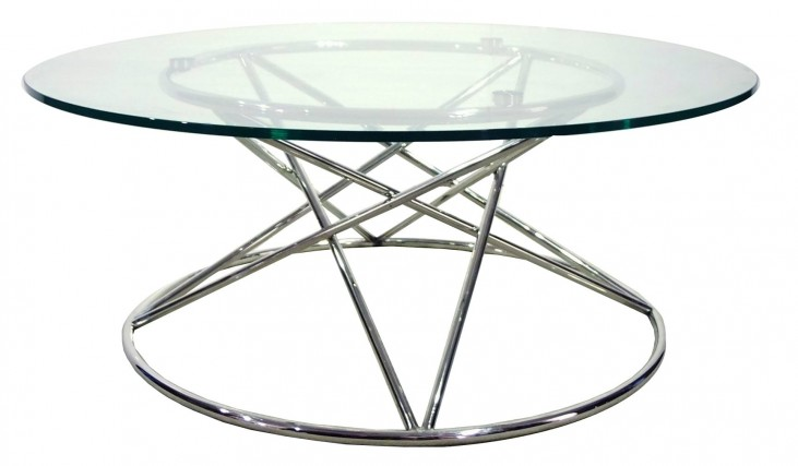 Tori Silver Finish Coffee Table