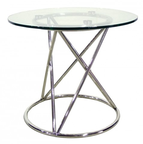 Tori Silver Finish End Table