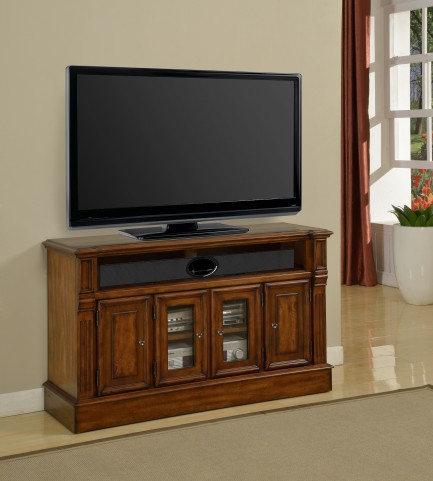 "Toscano Antique Vintage Dark Chestnut 50"" TV Console"