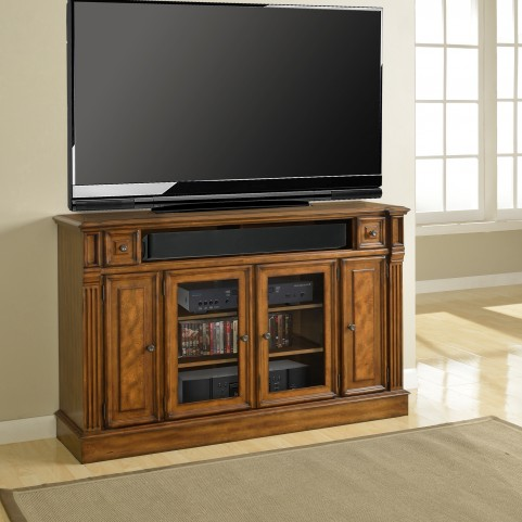 "Toscano Antique Vintage Dark Chestnut 62"" TV Console"