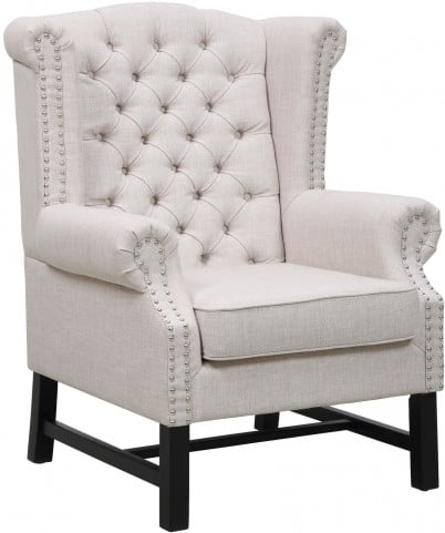 Fairfield Beige Linen Club Chair