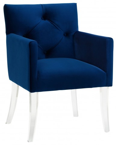 Lafayette Navy Velvet Acrylic Chair