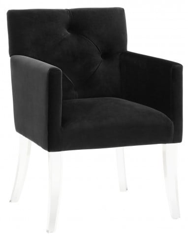 Lafayette Black Velvet Acrylic Chair