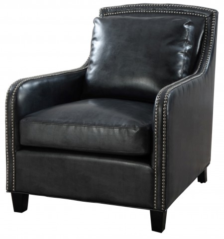 Greenwich Graphite Metallic Leather Club Chair