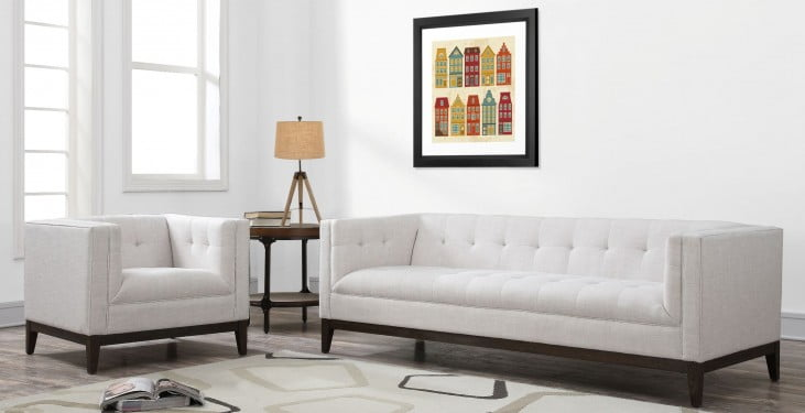 Gavin Beige Linen Living Room Set