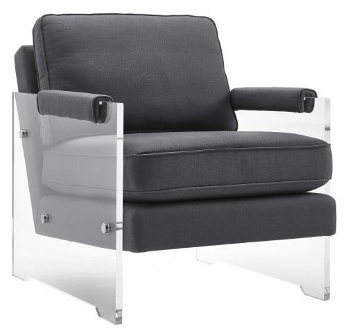 Serena Dark Grey Floating Lucite Chair