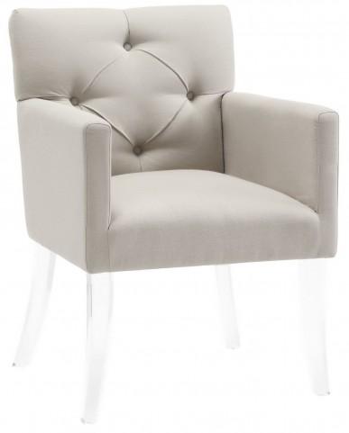 Lafayette Beige Linen Acrylic Chair