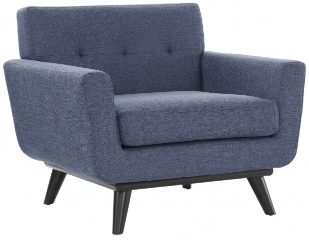 James Blue Linen Chair